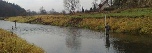 rzeka Bóbr, listopad 2013
